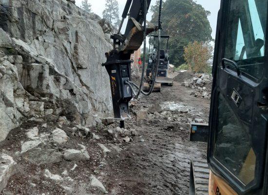 Breaker attachment - Erickson Excavating