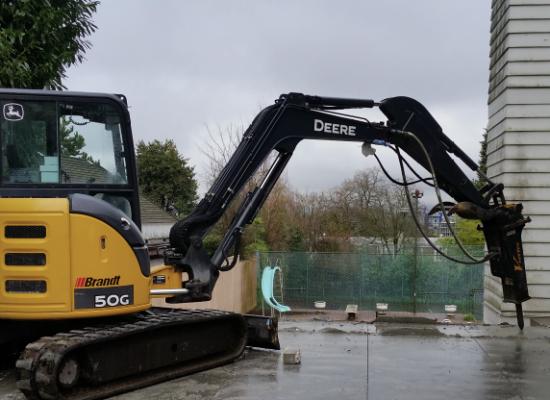 Erickson Excavation on Angus Drive