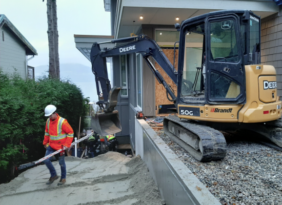 Backfill at new home in Lions Bay